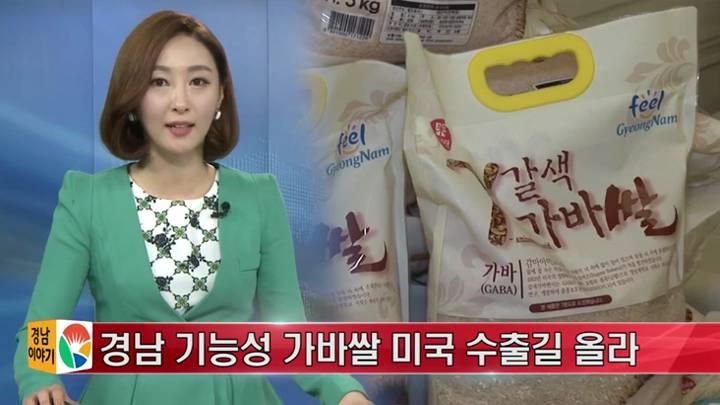경남 기능성 가바쌀 미국 수출길 올라