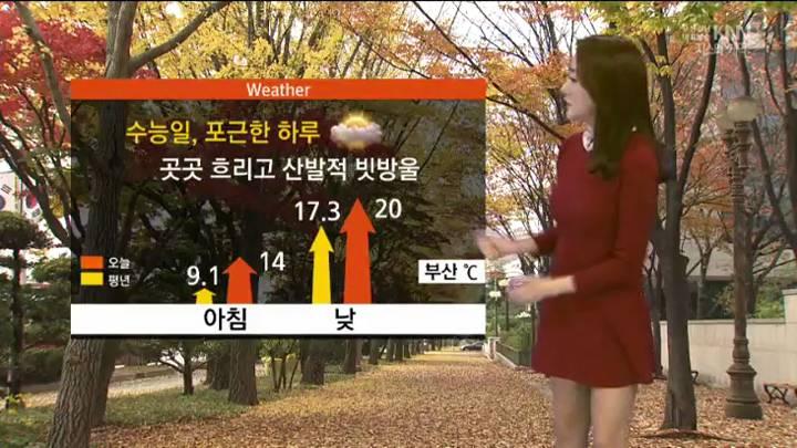 모닝와이드 날씨2 11월12일(목)