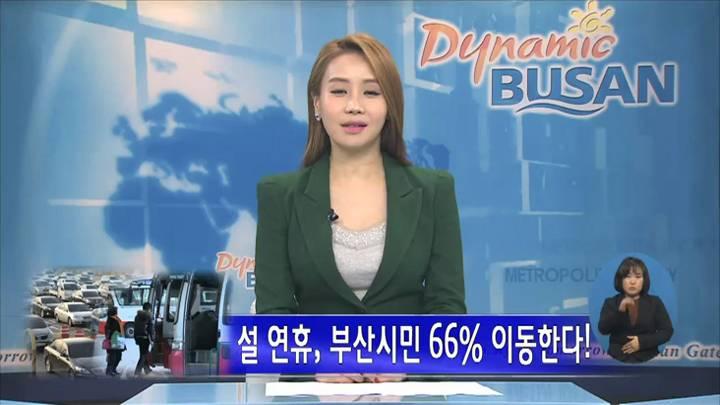 설 연휴, 부산시민 66% 이동한다!