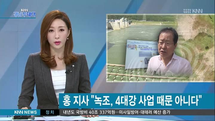 """홍지사의 낙동강 녹조 분석, 전문가들은 """"황당하다"""""""