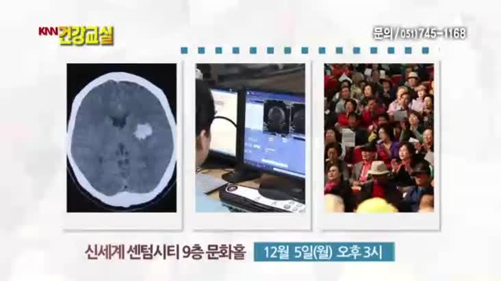 [2016.12.05 KNN 건강교실]뇌졸중의 예방과 치료