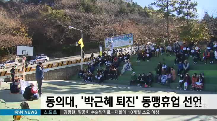 동의대 박근혜 퇴진 요구 동맹휴업 선언