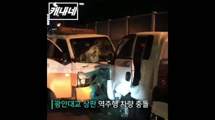 [캐내네]광안대교 역주행사고