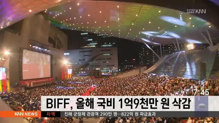 BIFF, 올해 국비 1억9천 삭감