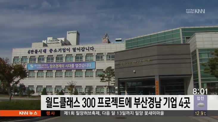 월드클래스 300 프로젝트에 부산경남 기업 4곳 선정