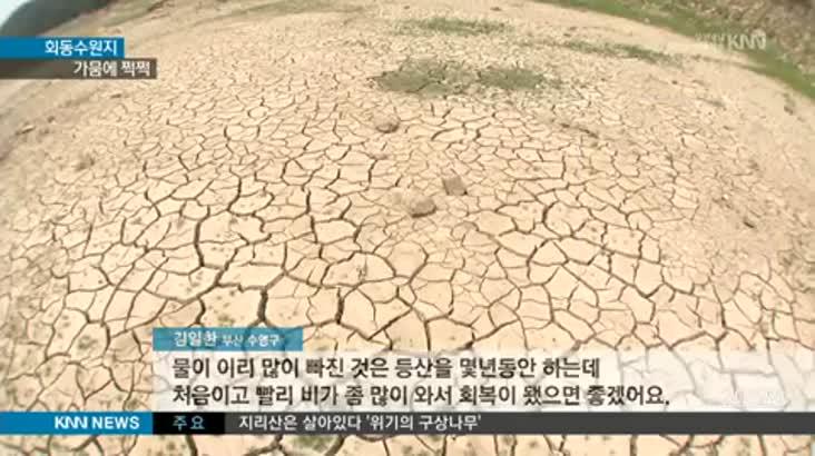 '회동수원지'도 가뭄에 쩍쩍…야속한 폭염