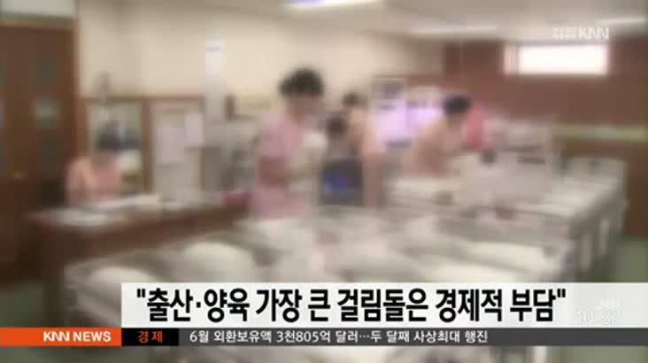 """""""출산*양육에 가장 큰 걸림돌은 경제적 부담"""""""