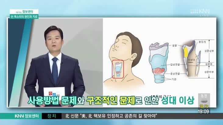 (10/19 방영) 쉰 목소리의 원인과 치료(인제대 부산백병원/이동근 교수)