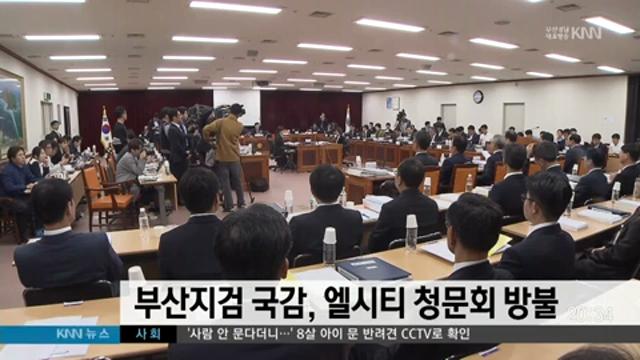 부산지검 국감, 엘시티 청문회 방불