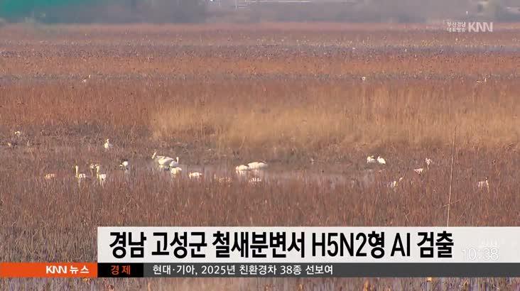 경남 고성군 철새분변서 H5N2형 AI 검출