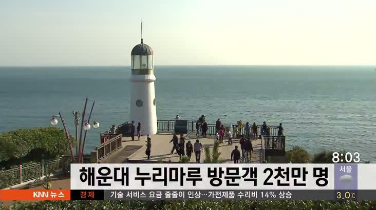 해운대 누리마루 방문객 2천만명 돌파
