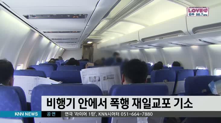 비행기 안에서 폭행 재일교포 기소