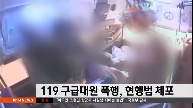 119 구급대원 폭행 50대 현행범 체포