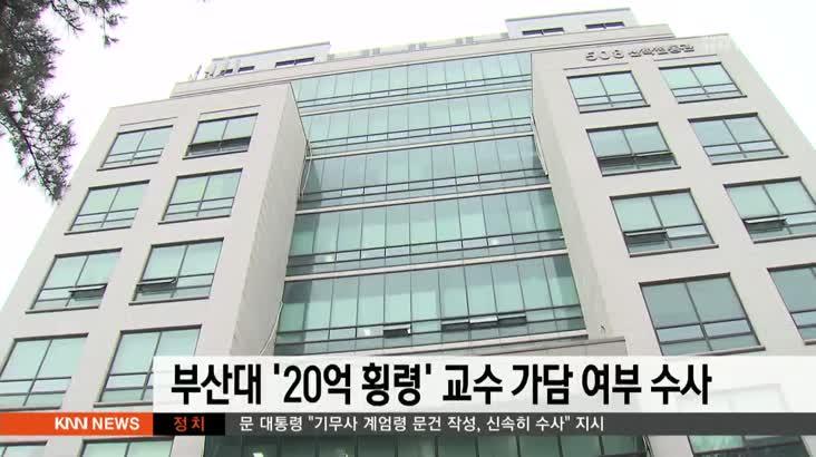 부산대 '20억 횡령' 교수 가담 여부 수사