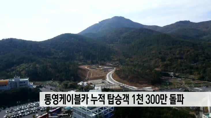 통영케이블카 누적탑승객 1,300만 돌파