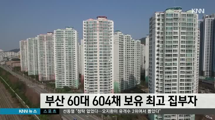 전국 최고 집부자는 부산 60대 604채 보유