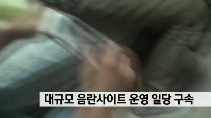대규모 음란사이트 운영 일당 2명 구속