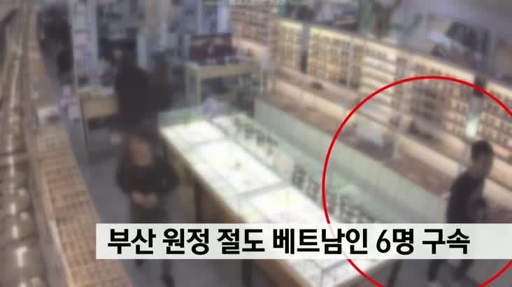 부산에서 원정 절도 베트남인 6명 구속