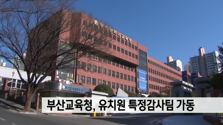 부산교육청, 유치원 특정감사팀 가동