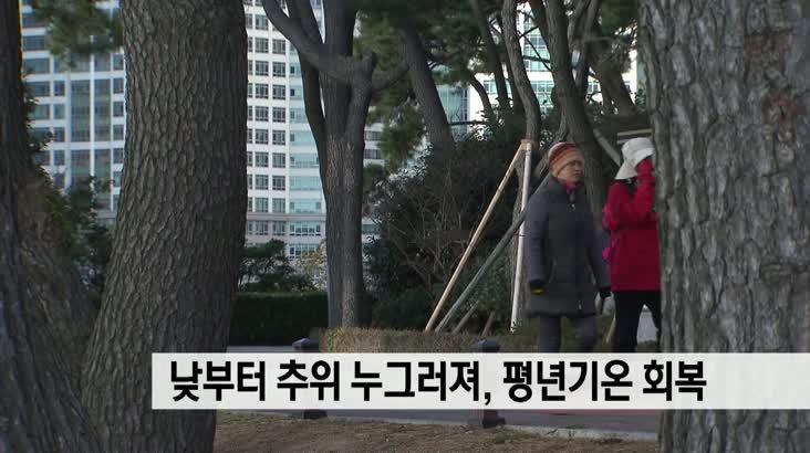뉴스와 생활경제 날씨 1월21일(월)