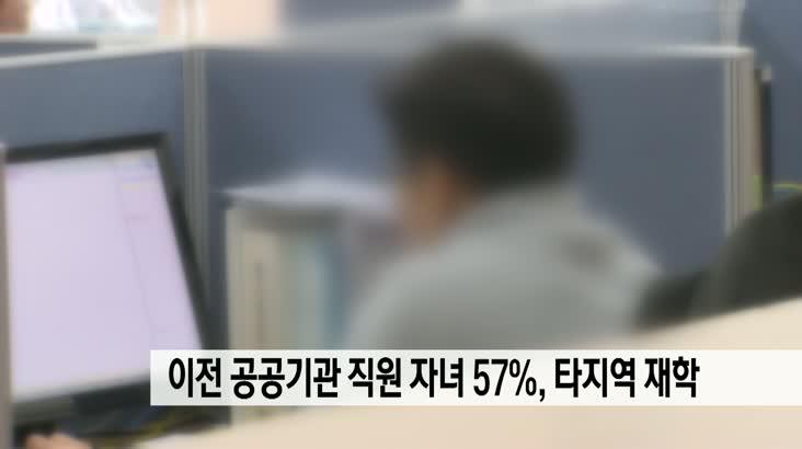 부산 이전 공공기관 직원 고교생 자녀 57% 타지역에