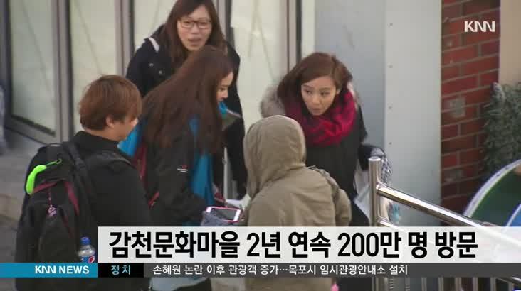 감천문화마을 2년 연속 200만명 방문