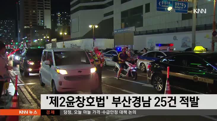 '제2윤창호법' 밤새 부산경남에서 음주운전 25건 단속