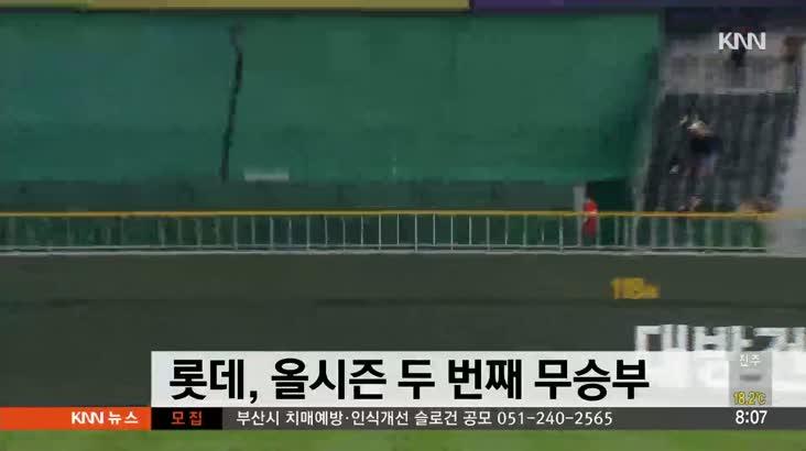 롯데, 9회 동점 허용 후 연장 무승부