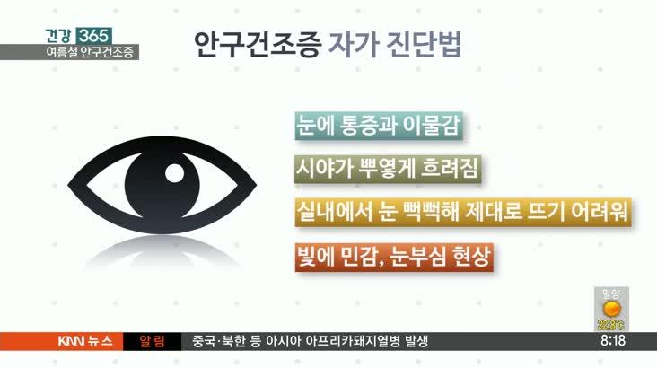 [건강 365] – 여름철 심해지는 안구건조증