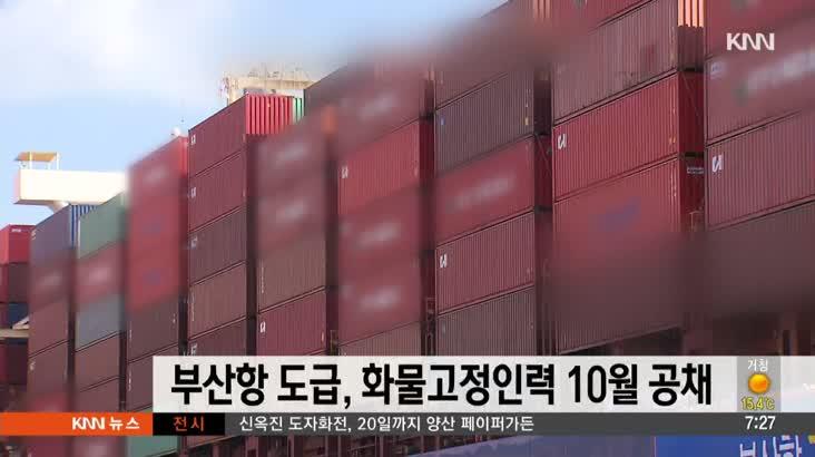 부산항 도급,화물고정인력 10월 공개채용