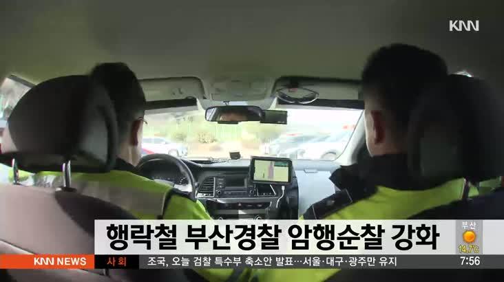 행락철 맞아 부산경찰 암행순찰 강화