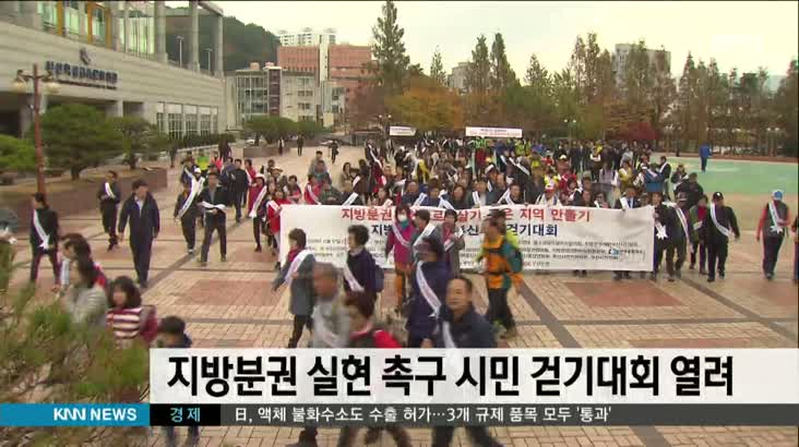 지방분권 실현 촉구 시민 걷기대회 열려