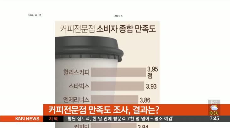 [뉴스클릭]-커피전문점 만족도 할리스 1위