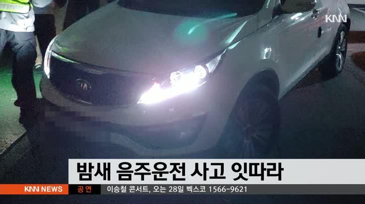 밤새 음주운전으로 인한 사고 잇따라