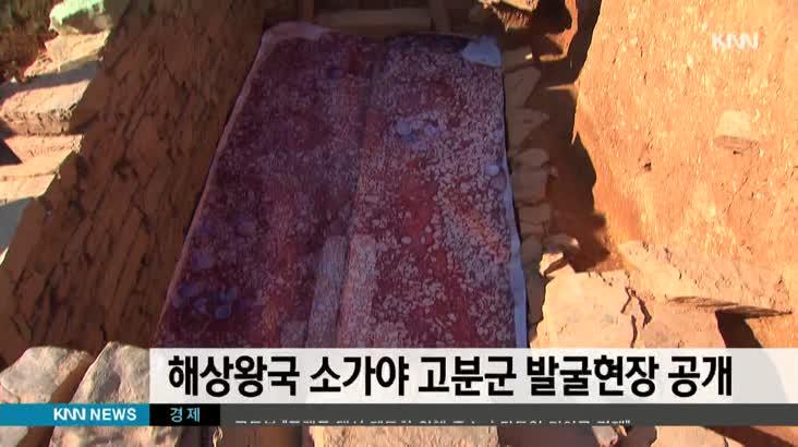 해상왕국 소가야 고분군 발굴현장 공개