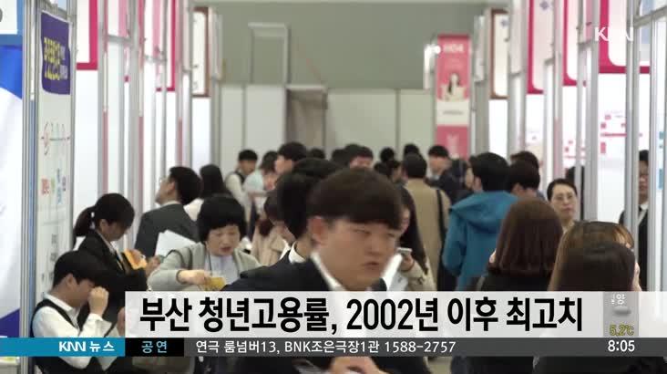 부산 청년교용률, 2002년 이후 가장 높은 수치
