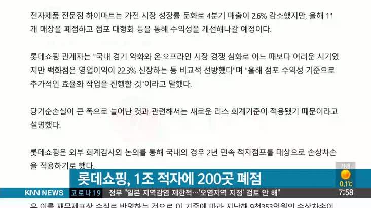 [뉴스클릭] 2/17 롯데쇼핑 1조 적자에 200곳 폐점