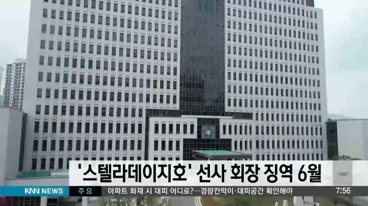 22명 실종 '스텔라데이지호' 선사 회장 징역6월