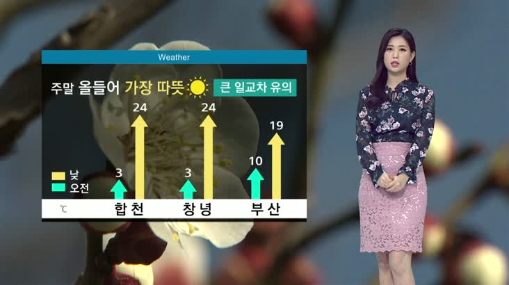 뉴스아이 날씨 3월20일(금)