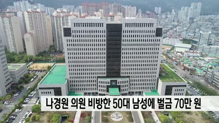 나경원 의원 비방한 50대 남성에 벌금 70만원