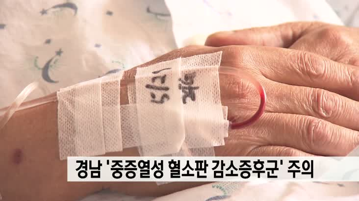 경남 중증열성혈소판감소증후군 특히 주의