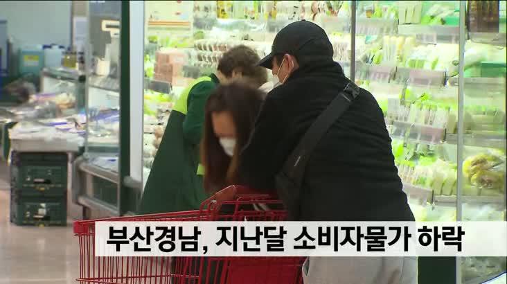 부산경남지역, 지난 달 소비자물가 하락