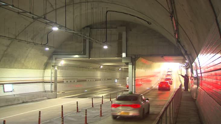터널 지하차도서 물이' 줄줄'…운전자 불안
