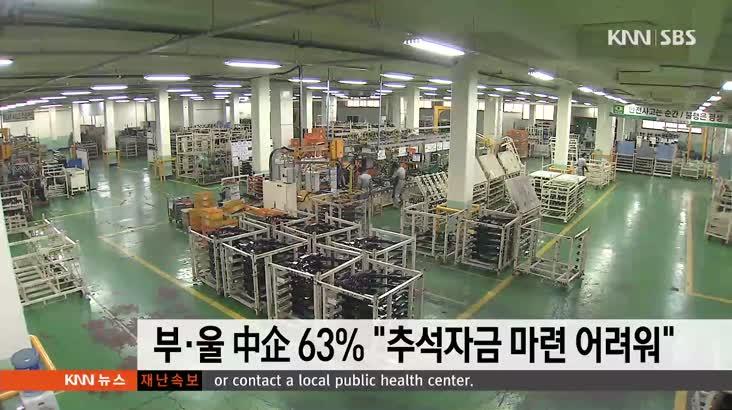 """부산울산 중소기업 63%, """"추석자금 마련 어려워"""""""