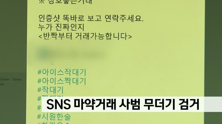 SNS 마약거래 사범 무더기 검거