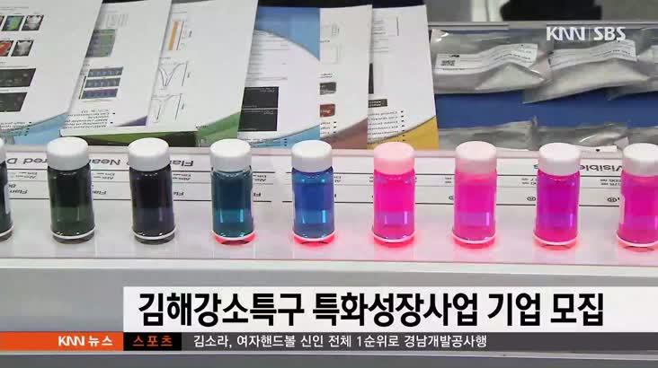 김해강소특구 특화성장사업 기업 모집