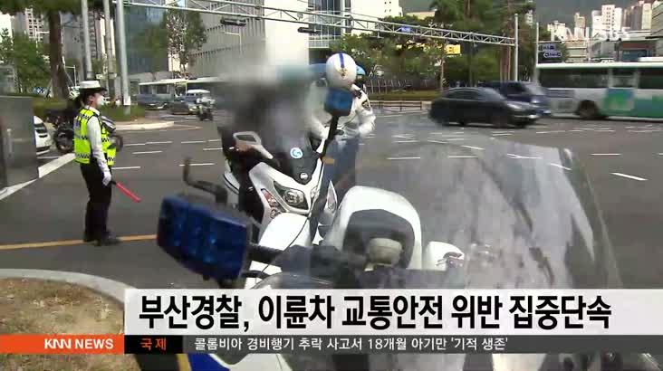 부산경찰, 이륜차 교통안전 위반 집중 단속