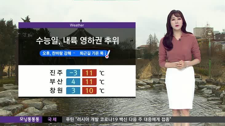 모닝통통통 날씨 12월3일(목)