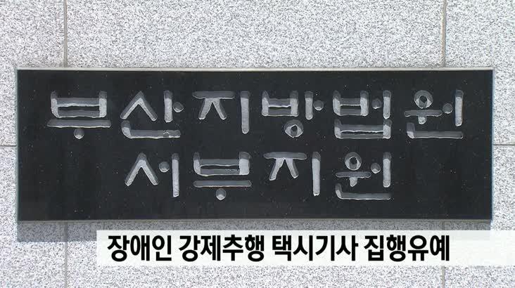 장애인 강제추행 택시기사 집행유예