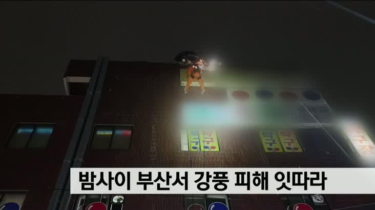 밤사이 부산서 강풍 피해 잇따라